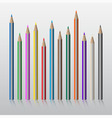 twelve colored pencils vector image