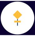 warning sign computer symbol vector image