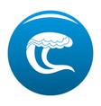 wave water sea icon blue vector image vector image