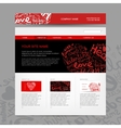 Website design template for dating site vector image vector image