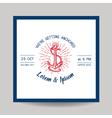 wedding invitation card - save date - marine vector image vector image