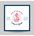 Wedding Invitation Card - Save the Date - Marine vector image vector image