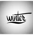 Winter hand lettering - handmade calligraphy vector image vector image