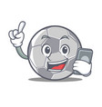 with phone football character cartoon style vector image vector image