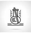 Lab flask black line icon vector image