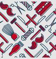 barber shop seamless pattern vector image