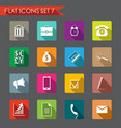 financial and business icons vector image