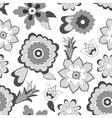 Flower pattern background vector image