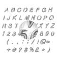 Calligraphic black watercolor alphabet vector image