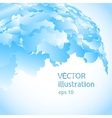 abstract background of blue blobs vector image vector image