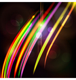Abstract light color glowing line design against vector image