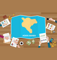 addis ababa ethiopia africa city region economy vector image vector image