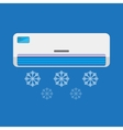 Air conditioner unit is cooling the air vector image