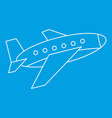 aircraft icon outline style vector image vector image