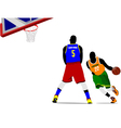 al 0714 basketball 02 vector image vector image