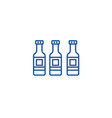 beer bottle line icon concept beer bottle flat vector image