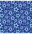 Blue stars seamless texture vector image vector image