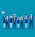 business teamwork concept team character vector image vector image