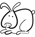 cartoon bunny for coloring book vector image vector image