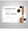 certificate - horizontal elegant document vector image