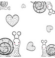 charcoal and hearts drawings background vector image vector image
