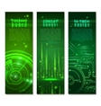 Circuit Banner Set vector image