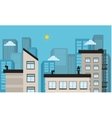 City landscape of silhouette vector image vector image