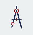 colored drawing compass icon stationeryflat vector image