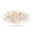 colorful bright oval cloud confetti round papers vector image vector image