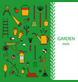 cover template with garden tools vector image vector image