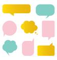 Cute colorful speech bubbles set vector image