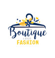 fashion boutique logo clothes shop dress store vector image vector image