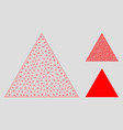 filled triangle mesh 2d model and triangle vector image vector image