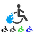 fired disabled person flat icon vector image vector image