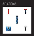 flat icon clothing set of tailoring textile vector image vector image