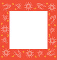 germs decoration on frame vector image vector image