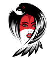 girl in raven mask vector image