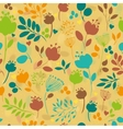 Graceful Summer Flowers Yellow Seamless Pattern vector image vector image
