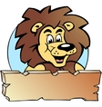Hand-drawn of an Proud Lion King - Logo Design vector image vector image