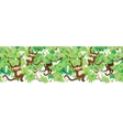 happy monkeys horizontal seamless pattern border vector image