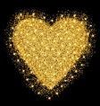 happy valentines day greeting card gold heart vector image vector image