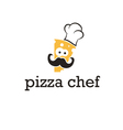 icon abstract chef in hat vector image vector image