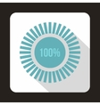 Loading circle100 percent icon flat style vector image vector image