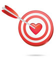 love target vector image vector image