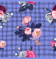 lovely floral seamless pattern with semi-colored vector image vector image