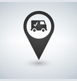 map pointer with truck icon sign pictogram vector image vector image
