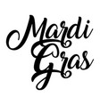 mardi gras hand lettering vector image vector image