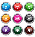 monitor screen with email sign set 9 collection vector image vector image