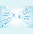perspective abstract bright blue lights and lines vector image