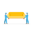 porters carry sofa vector image